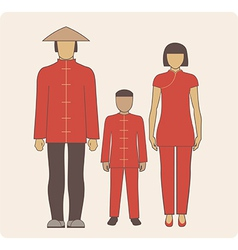 Chinese family vector image