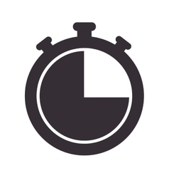 chronometer watch isolated icon vector image