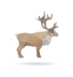 Deer abstract isolated on a white backgrounds vector