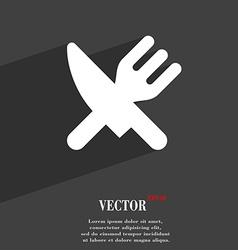 Eat Cutlery icon symbol Flat modern web design vector image