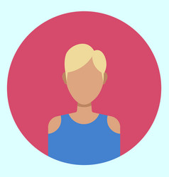 female avatar profile icon round woman face vector image vector image