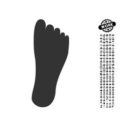 Foot icon with men bonus vector