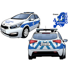 Greece police car vector