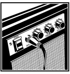 Guitar amplifier symbol vector