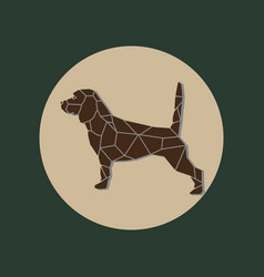 isolated geometry beagle on green background vector image