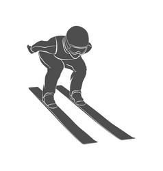 Jumping skier sport vector