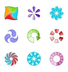 Loading process icons set cartoon style vector