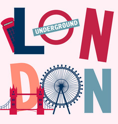 London vintage poster vector