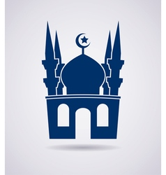 mosque icon vector image vector image