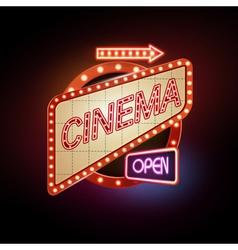 Neon sign cinema vector