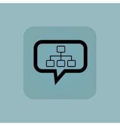 Pale blue scheme message icon vector