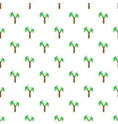 Palms pattern cartoon style vector