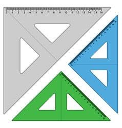 Plastic triangle rulers vector