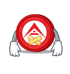 Silent ark coin mascot cartoon vector