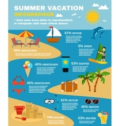 Summer Infographic Set vector image vector image