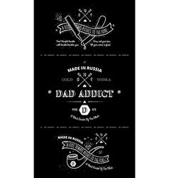 Trendy Retro Vintage Insignias - tattoo Badges vector image vector image