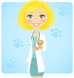 Veterinarian vector image