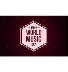 world music day style background collection vector image