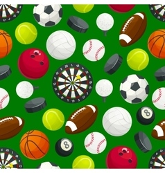 Sports gaming ball items seamless pattern vector
