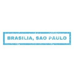 Brasilia Sao Paulo Rubber Stamp vector image