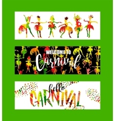 Carnival Bright festive banners trending abstract vector image