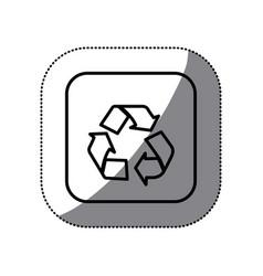 figure symbol recycle icon vector image