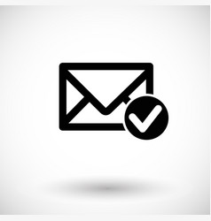 mail accept flat icon vector image