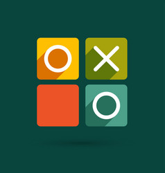Noughts and crosses game vector