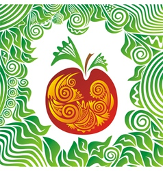 Apple nature pattern vector