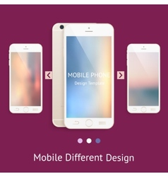 Phone mock up for your design vector image