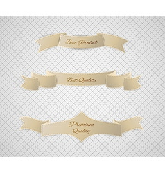 Beige quality label vector