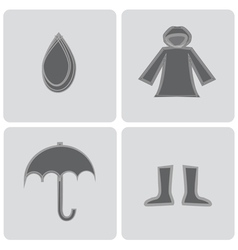 Rain elements icons vector
