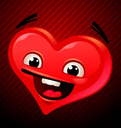 Mascot heart for valentines day vector