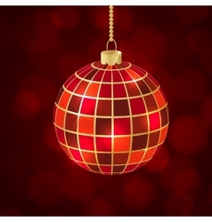 Christmas ball mosaic vector
