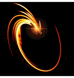 Abstract glow background with fire shape vector