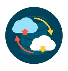 Cloud upload and download icon vector