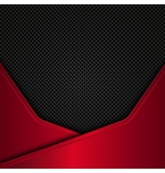 Black and red metal background design vector