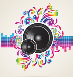 background with equilizer rainbow vector image