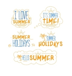 Summer badges collection vector