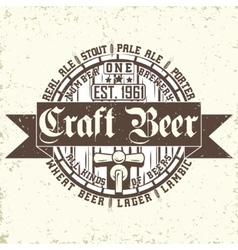 Craft beer emblem vector