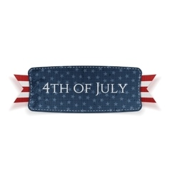 Fourth of july national banner vector