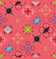 air drone color drone background pattern vector image vector image