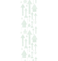 Arrows flying up textile textured vertical border vector