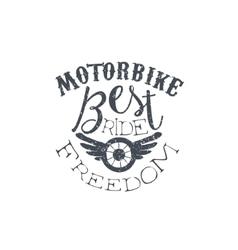 Best Motorbike Vintage Emblem vector image