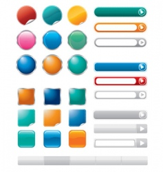 Buttons for internet vector