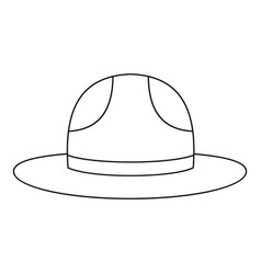 Canadian hat mounted policeman icon outline style vector