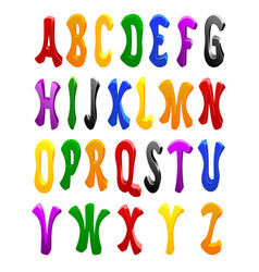 cartoon font full alphabet vector image