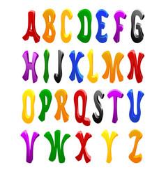Cartoon font full alphabet vector