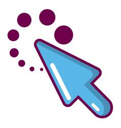 Cursor loading icon cartoon style vector