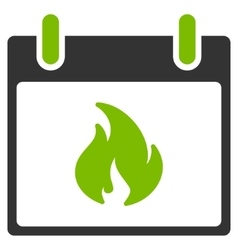 Flame calendar day flat icon vector